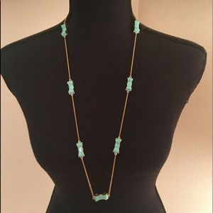 Kate Spade ♠️ Turquoise Bow Necklace
